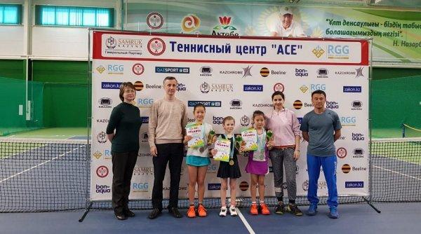 Актауские теннисистки стали призерами республиканского турнира