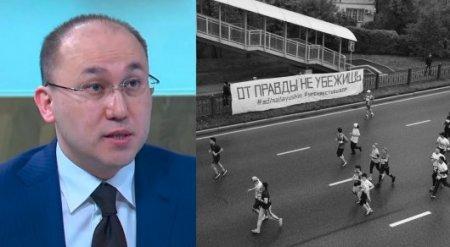 """Абаев прокомментировал 15-суточный арест за плакат """"От правды не убежишь"""""""