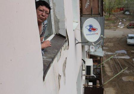 Балкон с жильцами обвалился в одном из домов Уральска