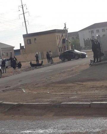 В Сети появилось видео аварии в Жанаозене