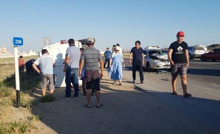 ДТП у некрополя Кошкар-Ата: Пострадали ребенок и трое взрослых