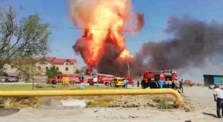 Появилось видео взрыва близ Шымкента