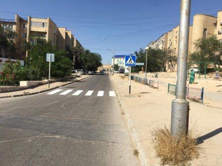 «Приемная на дороге»: По просьбе жительницы Актау в 14 микрорайоне  установили пешеходный переход