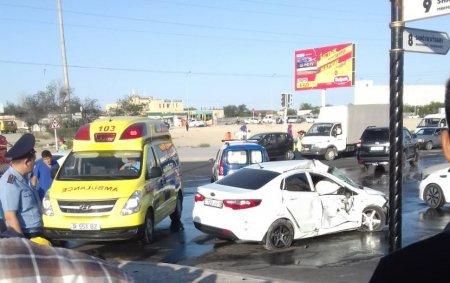 В Актау по факту аварии с участием пожарной машины назначена автотехническая экспертиза