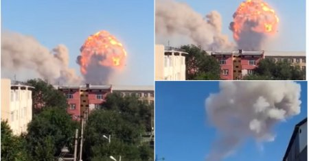 Мощный взрыв прогремел в воинской части на юге Казахстана