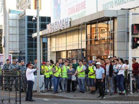 Участники несанкционированных митингов задержаны в Нур-Султане и Алматы