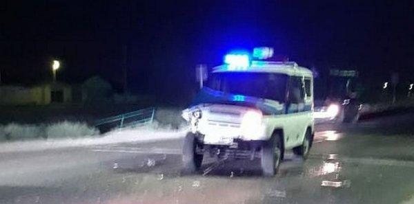 Полицейский УАЗ попал в ДТП в Мангистау
