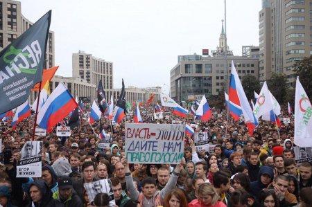 Протестный митинг в Москве стал самым массовым за последние годы