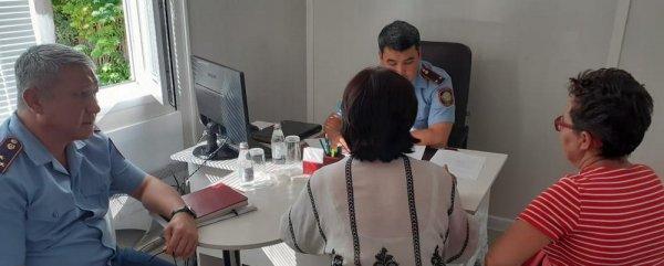 Начальник управления полиции Актау начал приём жителей