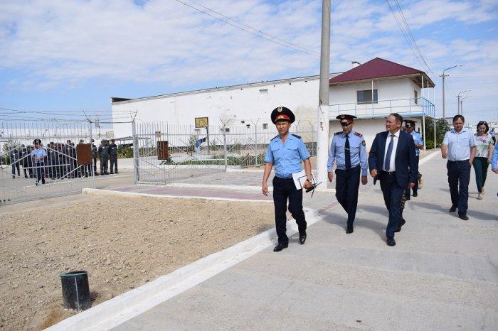 Заместитель министра внутренних дел Казахстана посетил колонии Мангистауской области