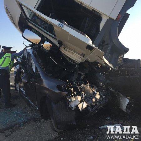В аварии на трассе Атырау-Кульсары погибли три жителя Мангистау
