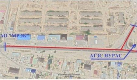 На два месяца перекроют дорогу в Актау