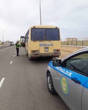 Жители Мангистау пожаловались на проверку автобусов полицейскими