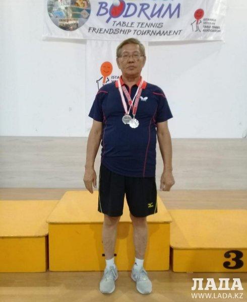 Тренер по теннису из Актау дважды завоевал «серебро» в Турции
