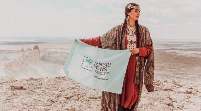 «Мисс Казахстан» Мадина Батык провела съемки в урочище Босжира