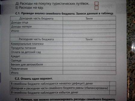 Задание в казахстанском учебнике возмутило родителя