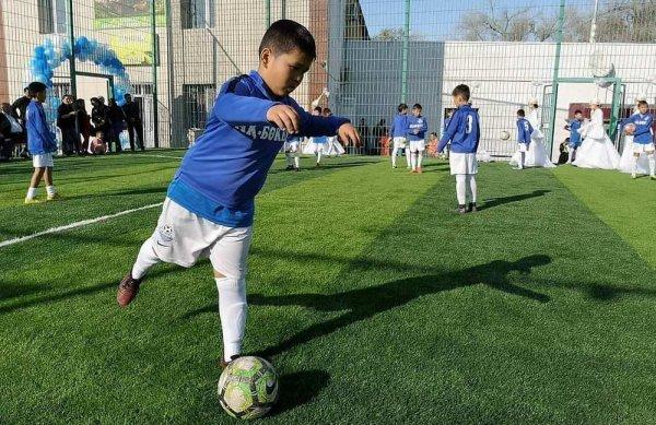 Актау подарили футбольное поле