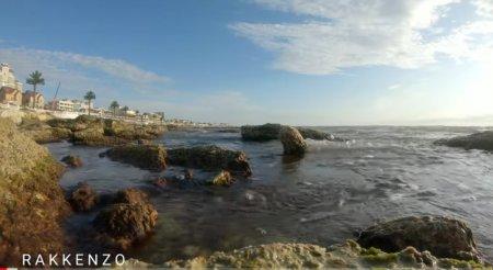 Расслабляющий вид и шум прибоя Каспийского моря ВИДЕО