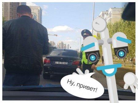 """Приветливого"" водителя поймали в Нур-Султане"
