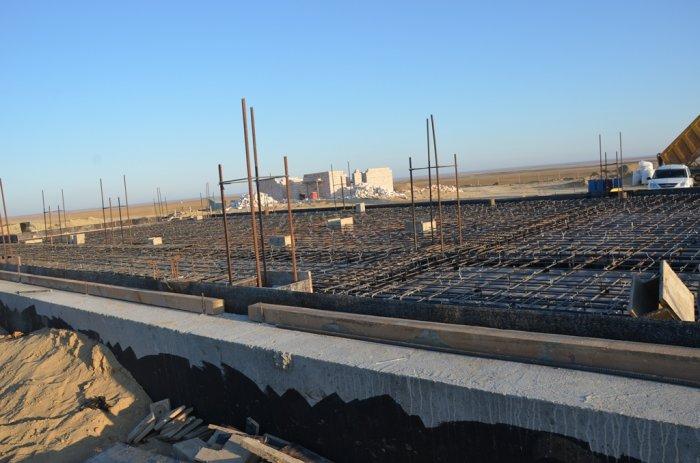 В селе Баскудук ведется строительство пожарного депо за 443 миллиона тенге