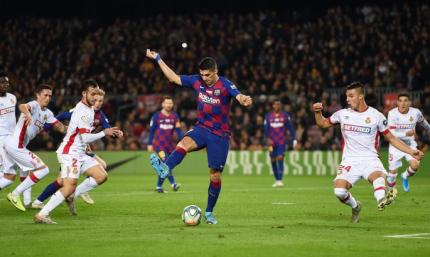 Фантастика. Неописуемый гол Луиса Суареса в ворота Мальорки