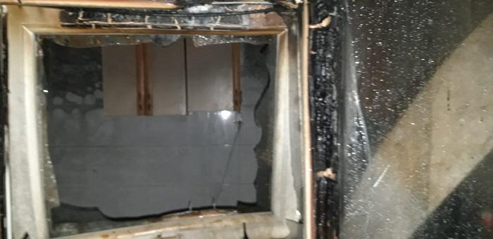 В посёлке Приморский-1 произошёл пожар
