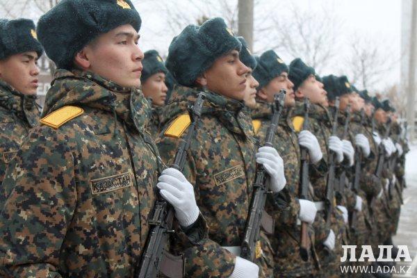 Гвардейцы приняли присягу в Актау