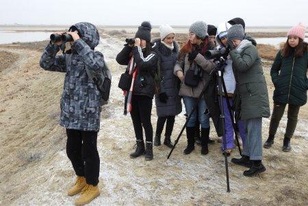Актауские школьники сфотографировали орланов-белохвостов на озере Караколь