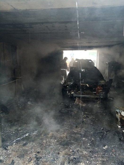 В гаражном обществе в Актау взорвался газовый баллон