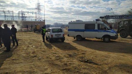У торгового центра «Жигер» в Актау выставили полицейское оцепление