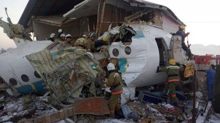 Стало известно, как именно падал Fokker-100 в Алматы