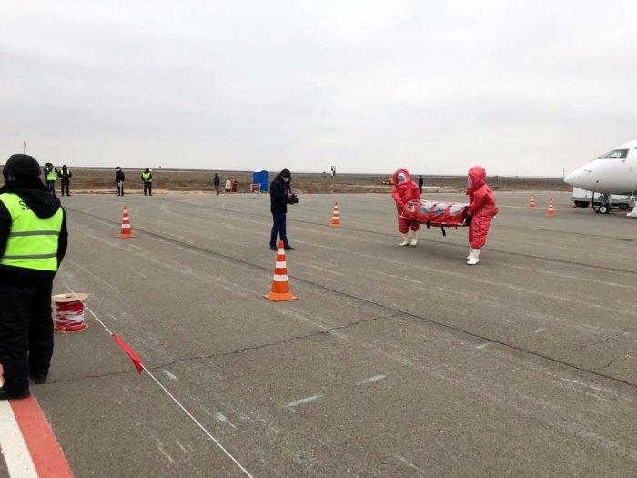 Пассажир с коронавирусом: В международном аэропорту Актау прошли учения