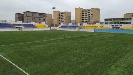 Готовность футбольного стадиона «Жас Канат» в Актау проверят перед стартом Премьер-Лиги Казахстана