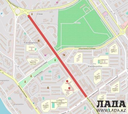 В Актау участок центральной дороги перекроют на время проведения акции «Мы - наследники Победы!»