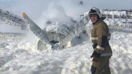 Появилось видео с места аварийной посадки АН-2 близ Усть-Каменогорска