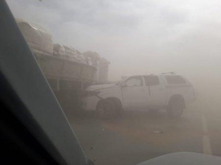 Вниманию водителей: Мангистау накрыла пыльная буря