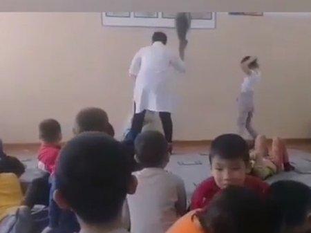 Избиение ребенка тряпкой в детском санатории Актобе попало на видео