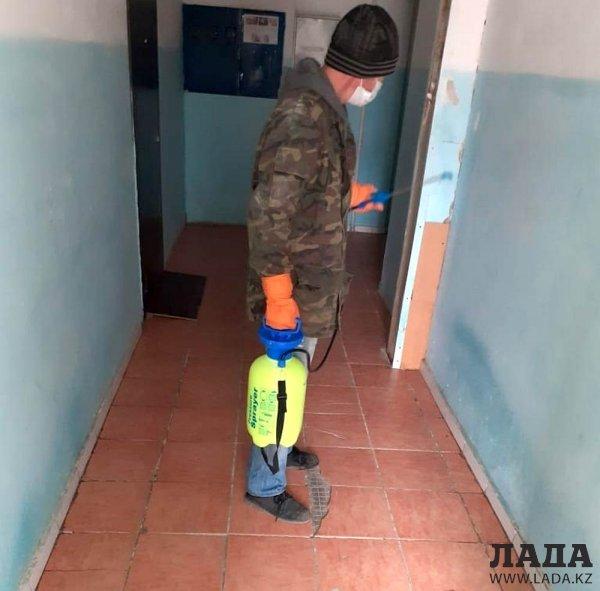 Общежитие продезинфицировали в Актау