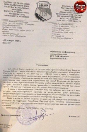 Футболистам «Каспия» перестали платить заработную плату из-за коронавируса