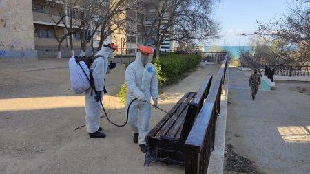 Акимат Актау: Дезинфекционные работы начали проводить внутри микрорайонов