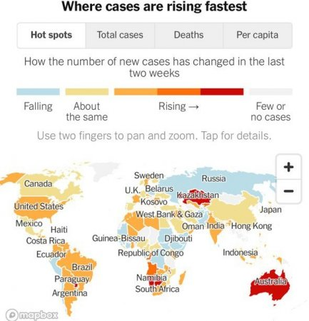 Как NY Times включил Казахстан в «лидеры» по заражаемости Covid-19