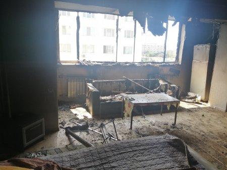 Соседи считают психически больной владелицу сгоревшей квартиры в Актау
