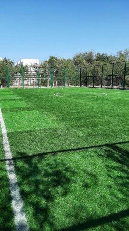 Спортивную площадку подарили одной из школ Актау её выпускники
