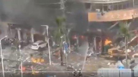 Мощный взрыв прогремел у отеля в Китае, есть пострадавшие