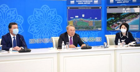 Нурсултан Назарбаев принял участие в презентации международного туристического хаба в Актау