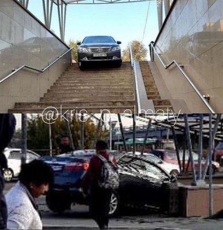 """""""Забыл, что я на машине"""": автомобилист въехал в метро в Алматы"""