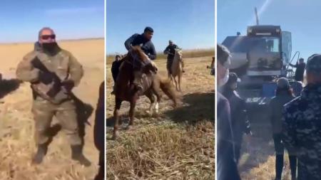 Автомат против комбайна: массовая драка произошла в Кызылординской области