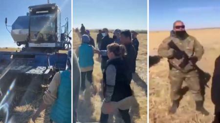 Автомат против комбайна: появились подробности конфликта в Кызылординской области