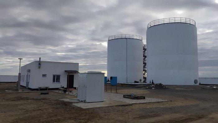 В Каракиянском районе завершено строительство двух резервуаров для воды