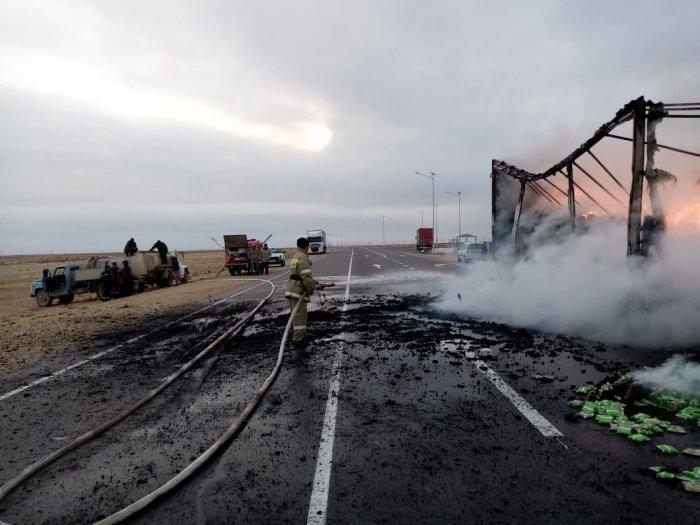 За неделю в Мангистау сгорели три автомобиля